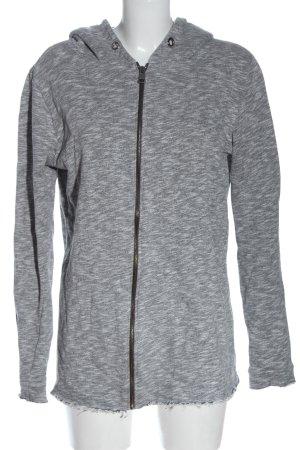 Sublevel Sweat Jacket light grey flecked elegant