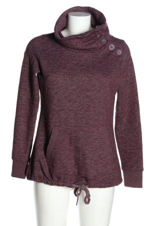 Sublevel Sweatshirt lila meliert Casual-Look