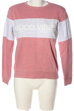 Sublevel Sweatshirt rose-gris clair moucheté style décontracté