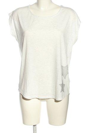 Sublevel T-shirt grigio chiaro-argento puntinato stile casual