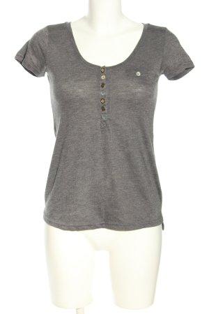 Sublevel T-Shirt hellgrau Casual-Look