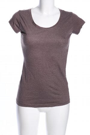 Sublevel T-Shirt braun meliert Casual-Look