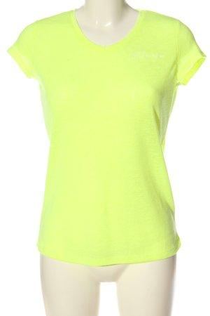 Sublevel Camiseta amarillo pálido look casual