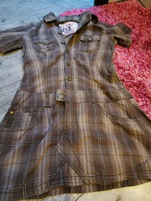 SUBLEVEL ♥ Tolles Hemdenkleid, Taschen, Knöpfe, - Sommer, tailliert Gr. 36 S