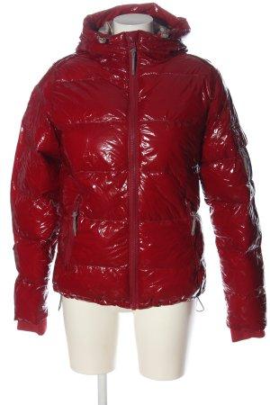 Sublevel Veste mi-saison rouge motif de courtepointe style décontracté