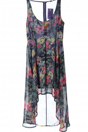 Sublevel Robe bas asymétrique motif de fleur élégant