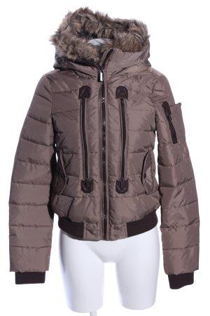 Sublevel Kurtka zimowa brąz Pikowany wzór W stylu casual