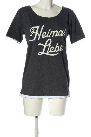Suck My Shirt T-Shirt schwarz-weiß meliert Casual-Look