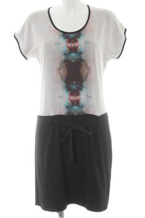 Sud express Shirtkleid schwarz-rosé Casual-Look