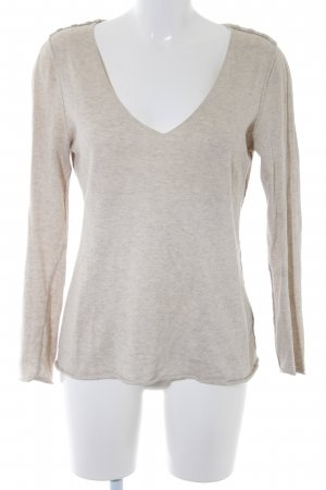 Sud express Strickpullover creme meliert Casual-Look