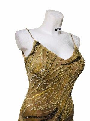 Sue Wong edles Damen Abendkleid mit Schaal  Silk Seide S 36