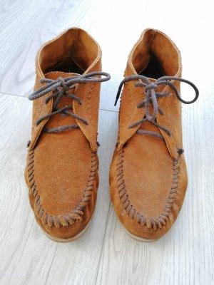 Suede Ankle Damen Kurzschaft Mokassin Boots