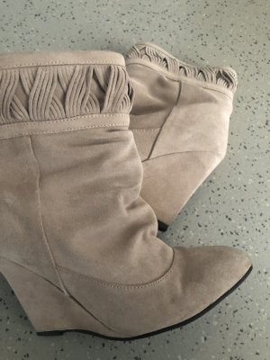 Suede Boots- Echtes Leder