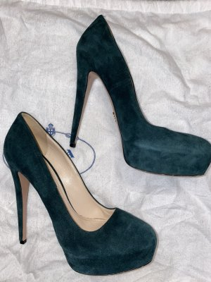 Suede Leather Platform Pumps