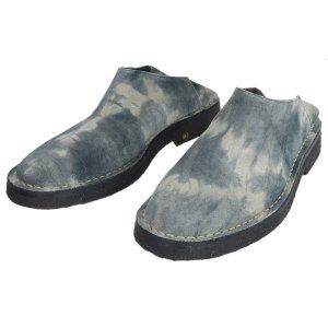 Ann Demeulemeester Sabots pale blue-slate-gray leather