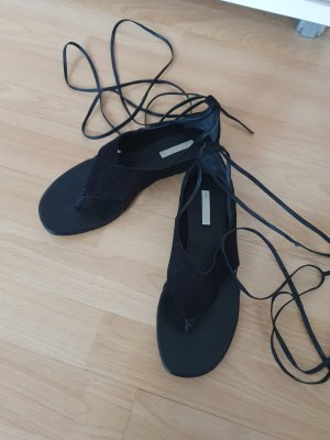 H&M Premium Roman Sandals black leather