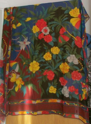 Leonardo Écharpe en soie multicolore soie