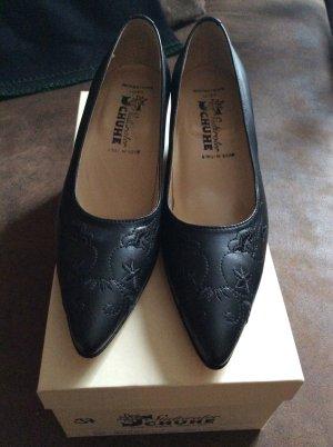Südtiroler Schuhe Pumps Gr 37 neu schwarz Spitz
