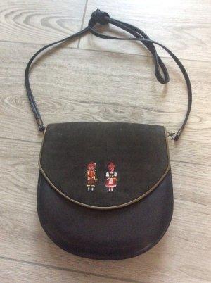 Südtiroler Trachten Handtasche  Leder Stickerei