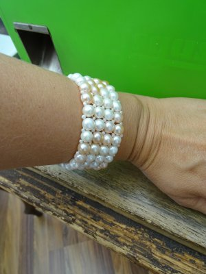 Süißwasserperlen Armband NEU elastic