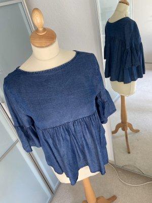 Blouse en jean bleu foncé