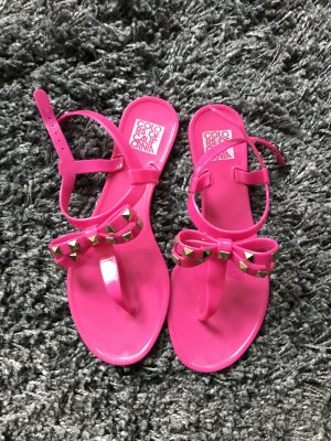 Colors of California Sandals pink-gold-colored