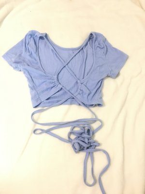 SheIn Top cut-out azzurro