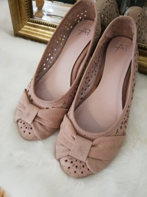 Anna Field Ballerinas with Toecap dusky pink