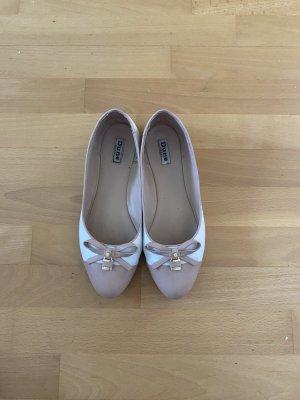 DUNE LONDON Ballerina pieghevole bianco-rosa antico
