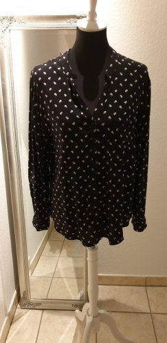 AJC Long Sleeve Blouse black-white polyester