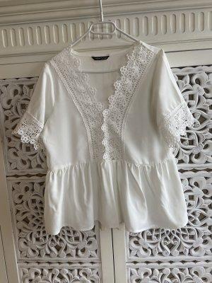 Sheinside Lace Blouse white