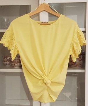 Süße Bluse in zartem Pastell-Gelb