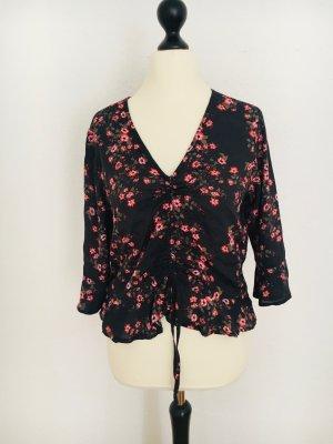 One More Story Kimono Blouse black-magenta mixture fibre