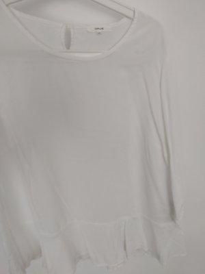 Süsse Bluse mit Rüschen von Opus 40/M in weiß