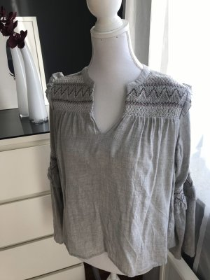 Zara Long Sleeve Blouse light grey