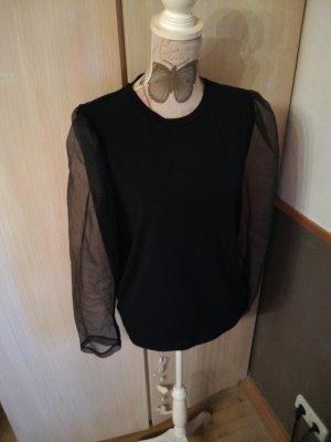 Süsse Bluse Vero Moda schwarz Puffärmel XL