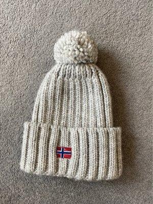 Napapijri Chapeau en tricot gris clair