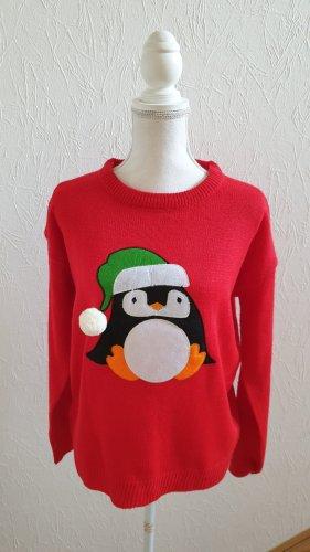 Brave Soul Sweter bożonarodzeniowy czerwony