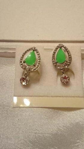 Süße Creole grün emailliert mit Zirkonia Steine