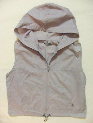 Süsse, dünne Vintage Sommer-Kapuzen-Schlupf-Bluse ohne Arm von AUTHENTIC STYLE, grau, Größe Medium, DE 38
