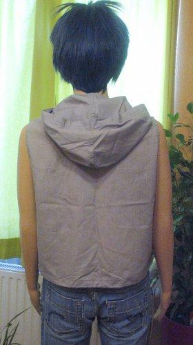 Authentic Style Bluzka bez rękawów jasnoszary Tkanina z mieszanych włókien