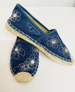 chillegs Espadrille sandalen blauw