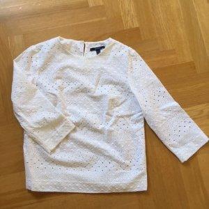 Süße GANT-Bluse weiß, Lochmuster, Größe 38