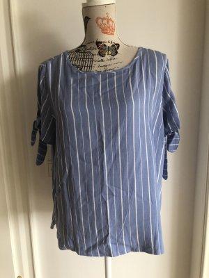 Reserved Short Sleeved Blouse white-azure