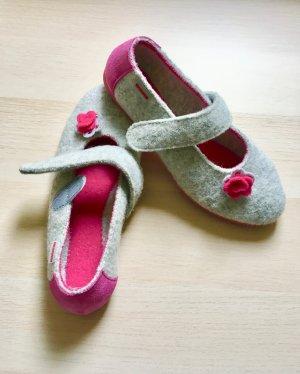 Giesswein Calzino antiscivolo rosa-grigio chiaro Lana