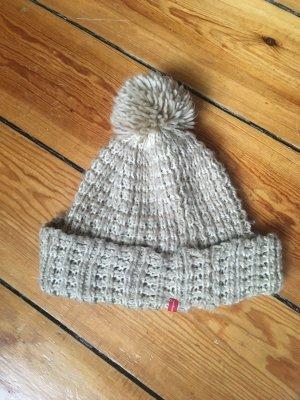 Manguun Cappello a maglia beige chiaro
