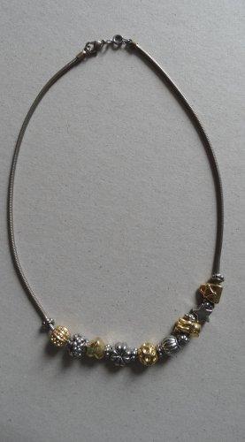 Naszyjnik złoto-srebrny