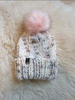 Handarbeit Sombrero de punto blanco