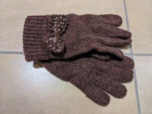 unbekannte Gants en tricot multicolore laine angora