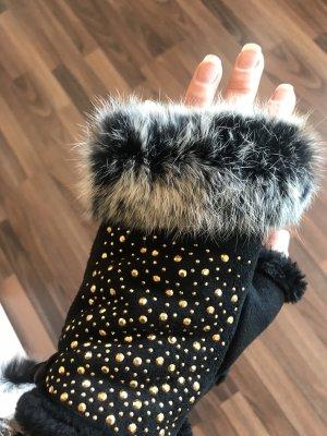 Fur Gloves multicolored